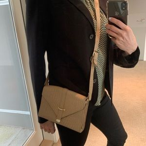 Forever 21 Tan Clutch / Shoulder Bag